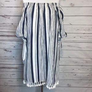 Speed Control NY | Off Shoulder Striped Dress | M